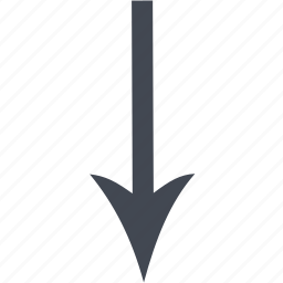 arrow, down arrow icon