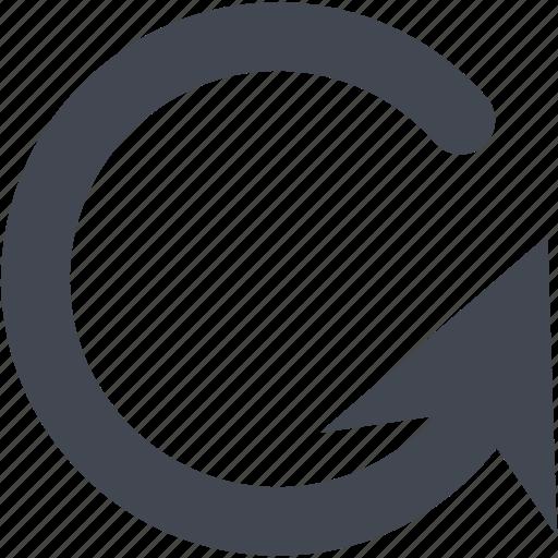 arrow, circle, sync icon