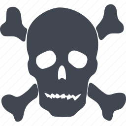 alert, attention, caution, danger, dangerous, error, problem, skull, warning icon