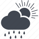 cloud, day, rain icon