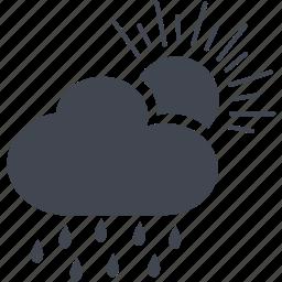 cloud, day, rain icon