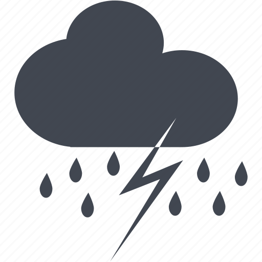 lightning, rain, strom, thunder, weather icon