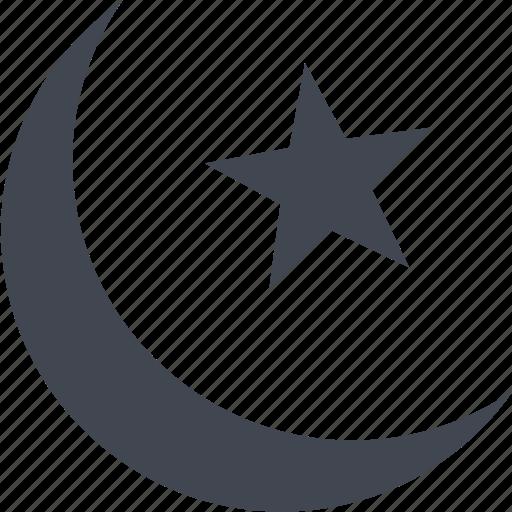 eid, moon, stars icon