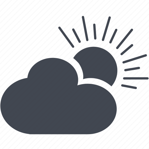 cloud, day, sun, sunny, weather icon