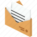 delivery, document, envelope, letter, message, paper, post icon