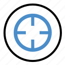 bullseye, crosser, goal, hunting, shooting, target icon