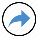 arrow, direction, forward, move, next, right icon