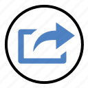 file, forward, post, send, share icon