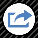 file, forward, post, send, share icon