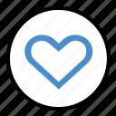 feelings, happiness, heart, like, love icon
