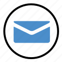 electronic, email, enveloper, letter, mail, message icon