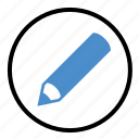 article, paper, pen, pencil, write, writing icon