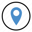 gps, location, locator, map, pin icon