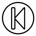 audio, back, music, player, sound icon