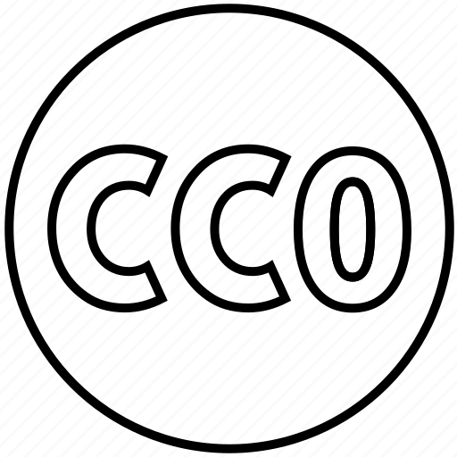 cc, cc0, cco, creative common, licence, license, permit icon