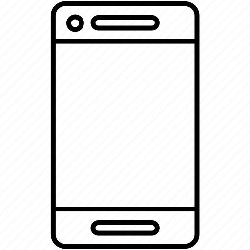 front, mobile, mobile screen, smartphone icon