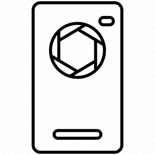 backpanel, camera, exposure, flash, mobile, shutter icon