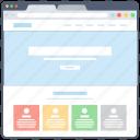 web blog, web design, web interface, web layout, web wireframe icon