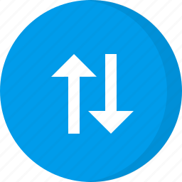 arrows, data transfer, download, navigation, transfer, up down arrows, upload icon