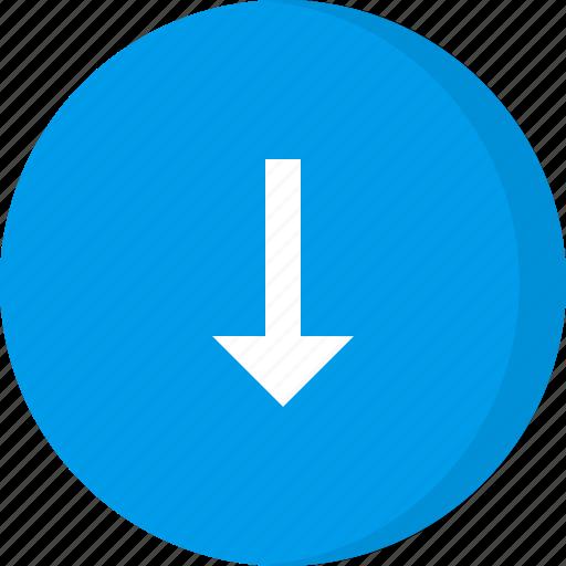 arrow, arrows, down, down arrow, download, navigation icon