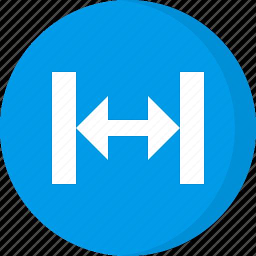 arrow, arrows, move, resize, scale, scale width, width icon