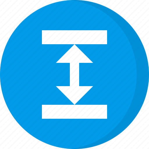 arrow, arrows, direction, height, resize, scale, scale height icon