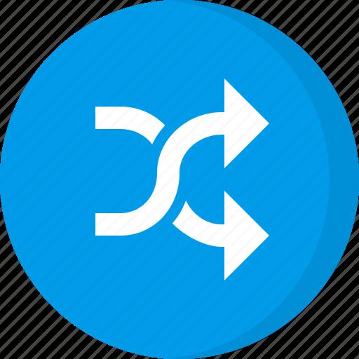 arrows, music shuffle, navigation, shuffle, shuffle music, shuffling, song shuffle icon