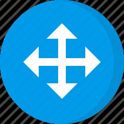 arrows, cursor, direction, drag, move, move cursor, pointer icon