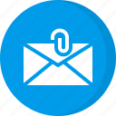 attachment, email, email attachment, envelope, mail attachment, paper clip icon