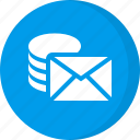 email, email storage, message storage icon