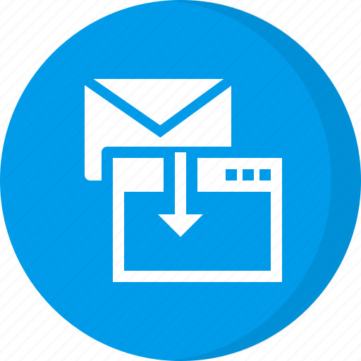 download, download email, email, import, import email icon
