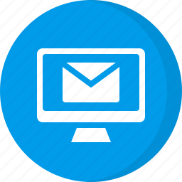 computer, email incoming, mail icon