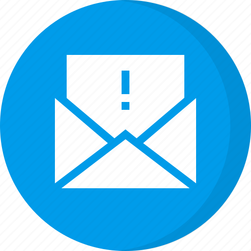 alert mail, caution email, email, email alert, important, warning email icon