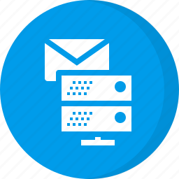 email, email database, email server, server, server email icon
