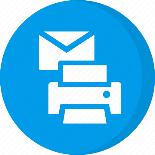 print, print document, print email, print mail icon