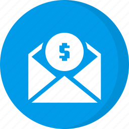 dollar, email, gift card, invoice, money, payment, send payment icon