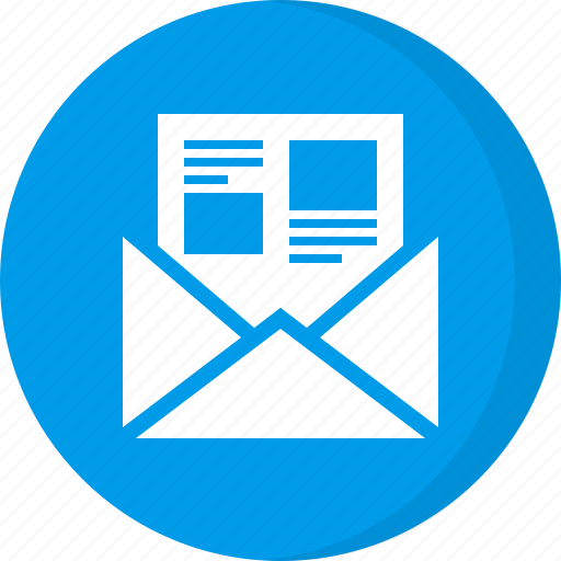 article, blog, document email, marketing email, newsletter, notice icon