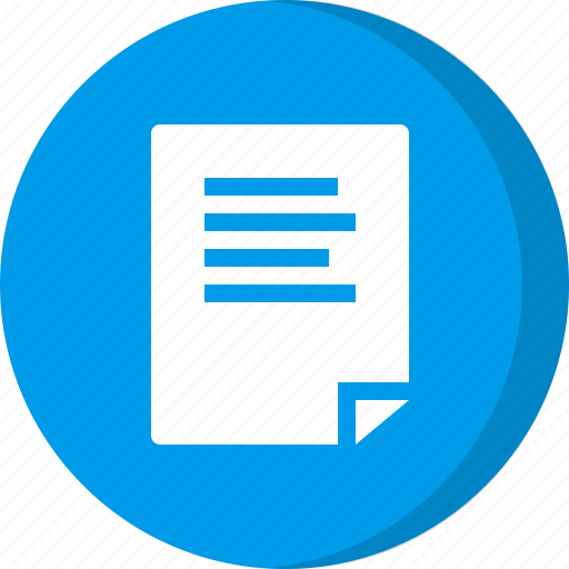 note, paper, sheet, text icon