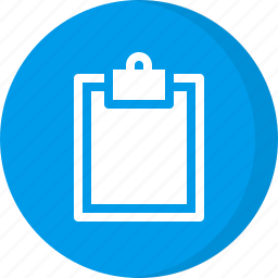 clipboard, paper, report, sheet icon