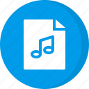 audio, file, media, multimedia, music, music file, sound icon
