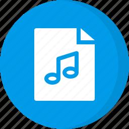 audio, file, media, multimedia, music, music file, sound icon
