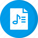 file, list, music list, playlist, playlist file, song icon