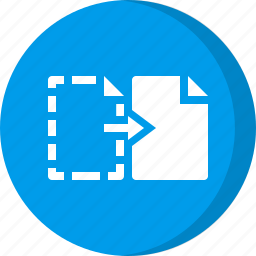 cut, cut file, cut paste, file icon