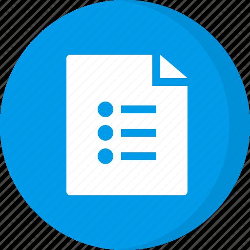 file, list file icon