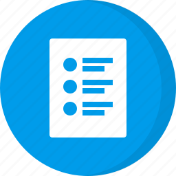 document file, list, list file, paper icon