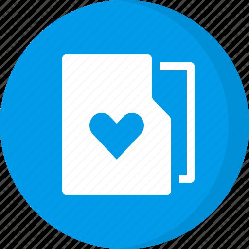 bookmark, favorite, favorite folder, favourite, folder, heart, like icon