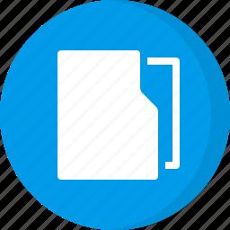 file folder, folder, office, organizer icon