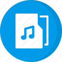 audio, folder, media, multimedia, music, music folder, sound icon