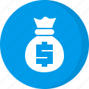 coins, finance, investment, money, money bag icon