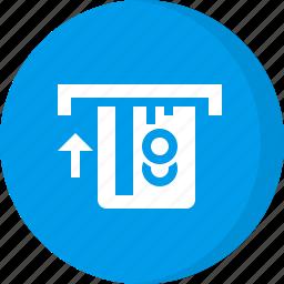 credit card, finance, remove, retrieve, retrieve card icon